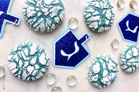 chanukah cookies blue crinkle cookies are a colorful chanukah treat the