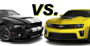 2014 camaro vs 2014 mustang 2016 ford mustang gt500 vs 2016 chevy camaro zl1