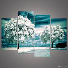 art painting for home decoration best 4 panel tree painting canvas wall art picture home decoration