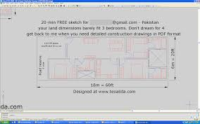 Bedroom Design And Measurements House Floor Plans U0026 Custom House Design Services At 20 Per Room