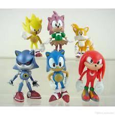 sonic cake topper sonic the hedgehog figure cake topper kid figurines play