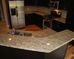 new venetian gold granite counter with tile backsplash stoneway