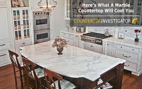 kitchen island costs marble countertops cost countertopinvestigator com