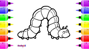 how to draw a caterpillar so cute and insects coloring pages for