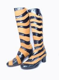 60s go go gold sparkly knee high stretch space age catwoman boots