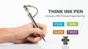 desk pens with chains think ink pens fidget for focus by timeflyz reminders inc