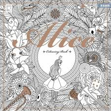 96 pages alice wonderland colouring book relieve