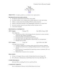 Resume Template Basic Sample Resume For Customer Service Representative In Retail