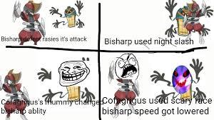 Meme Scary Face - cofagrigus and bisharp scary face meme pok礬mon amino