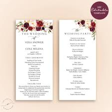 cheap wedding programs wedding wedding programs vistaprint 25th ceremony exles