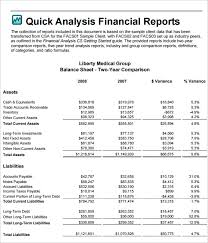 Excel Template For Financial Analysis Financial Analysis Templates 7 Free Word Excel Pdf Documents