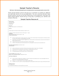 Teacher Job Resume Format by 10 Curriculum Vitae Samples For Teachers Mail Clerked