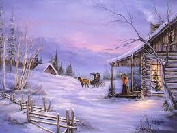 christmas art 06 christmas winter scenes
