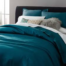 Teal Duvet Cover Silk Shams West Elm