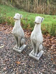 cement dog garden statues home outdoor decoration