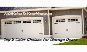 top 5 color choices for garage doors debi carser designs