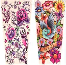 girls u0027 tattoo sleeves set of 2 random designs pink cat shop
