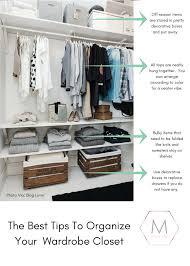 organize closet wardrobe tips and ideas