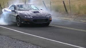 1999 black camaro 1999 chevy camaro ss slp burouts