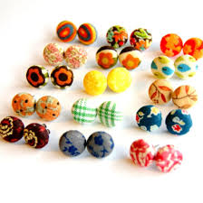 make your own earrings studs design your own fabric stud earring fabrics craft and project ideas