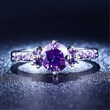 rings with amethyst images Buy fashion purple silver jewelry amethyst rings jpg