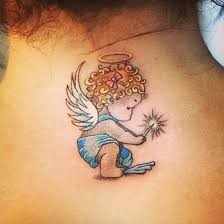 angel tattoo in middlesbrough graphic small angel tattoo tatouaz pinterest small angel