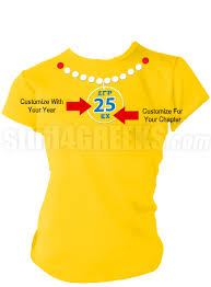 Screen Printed Aprons Sigma Gamma Rho Pearl Necklace Screen Printed Anniversary T Shirt