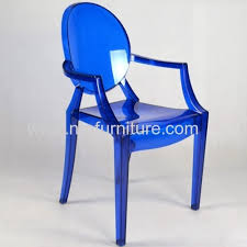Polycarbonate Chairs Decorative Polycarbonate Chair With Armrest Clear Ghost Patio