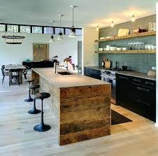 cuisines bois ilot bois cuisine cuisine avec arlot central moderne au quotidien