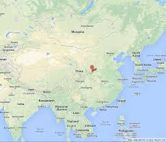 map of xi an xian on map of china world easy guides