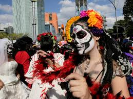 day of the dead zombie halloween mask mexico city day of the dead 2016 pictures cbs news