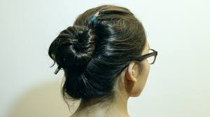 hair bun how to make a bun without a hair tie 8 steps with pictures