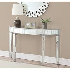 half oval console table coaster company mirrored half oval console table beverly s