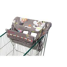 siège pour caddie bébé badabulle protège siège pour chariot gris taupe avec motifs achat