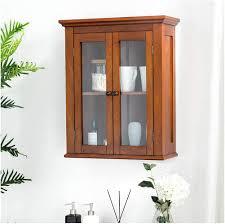 oak kitchen wall cabinet with glass doors glitzhome 24 1 inch wooden kitchen bathroom
