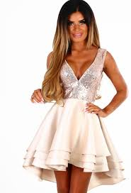 pink boutique dresses disco doll gold sequin multi layer skater dress pink boutique