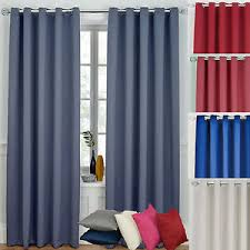 Blue Grey Curtains Ready Made Curtains Ring Top Eyelet Blackout Blue Grey Pink