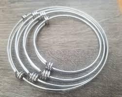 stainless steel bangle charm bracelet images Stainless steel adjustable bangle bracelet expandable jpg