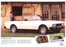 peugeot 504 coupe peugeot 504 coupé pininfarina 1983 brochure u2013 the marquis