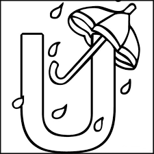 alphabet coloring pages free umbrella alphabet coloring pages of