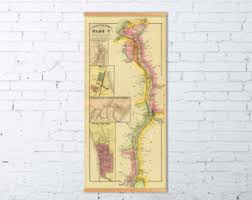 ohio river valley map ohio river etsy