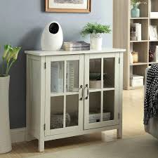 accent cabinet with glass doors olivia white accent cabinet and 2 glass doors sk19087c2 pw the