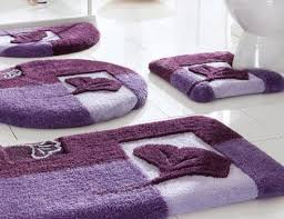 Modern Bathroom Accessories by Contemporary Bathroom With Chic Purple Bathroom Decor Decorative