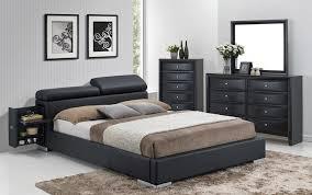 black bed with hidden stands