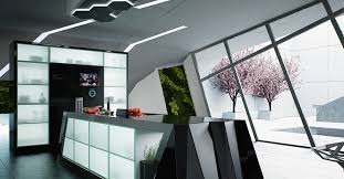 Ultra Modern Kitchen by Trendy Ultra Modern Kitchen With Sleek Lines And Unique Glass
