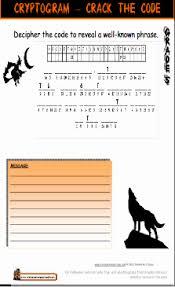 grade 5 halloween worksheet cryptogram cryptic message