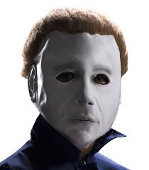 amazon com child halloween michael myers mask with wig by rubie u0027s