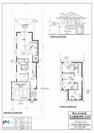 townhouse plans narrow lot 2 story house plans narrow block beautiful narrow lot single
