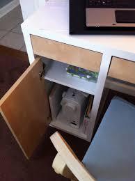 decorating pretty ikea micke desk in white with storage and hutch