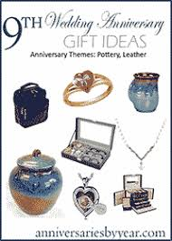 ninth anniversary 9th wedding anniversary gift ideas